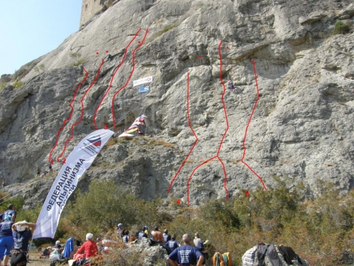 Чемпионат ветеранов альпинизма и скалолазания, Крым, Судак